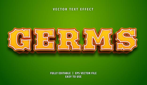 Efeito germs text, estilo de texto editável