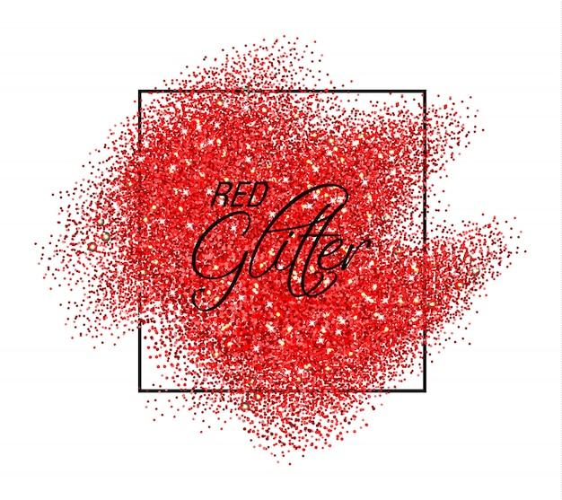 Efeito glitter vermelho