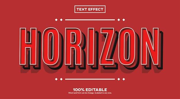 Efeito horizon text