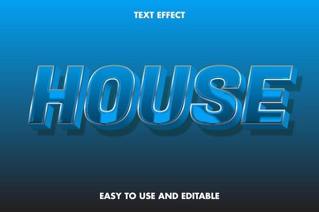 Efeito house text. fácil de usar e editável.