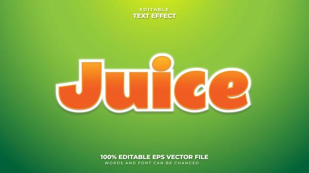 Efeito juice text