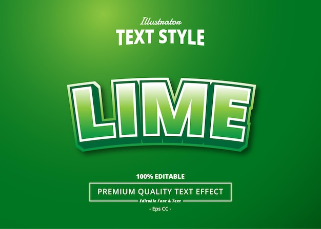 Efeito lime text
