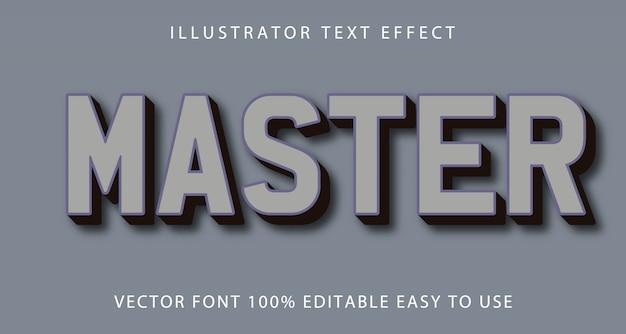 Efeito mestre de texto editável