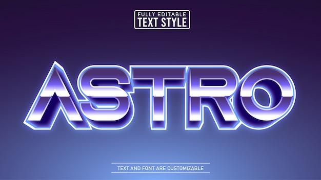 Efeito metálico do texto do título retro editável do jogo e do filme do espaço 3d metálico