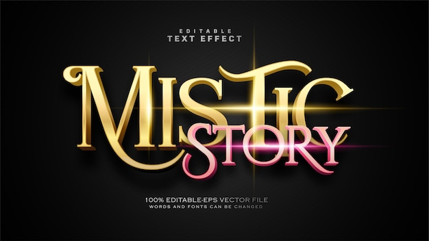 Efeito mistic story text