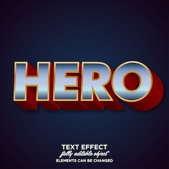 Efeito moderno da fonte para a etiqueta do nome dos heróis
