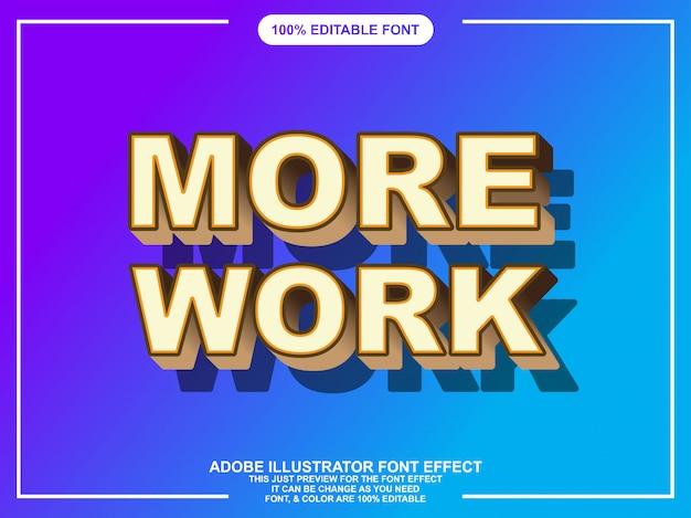 Efeito moderno texto negrito editável para ilustrador