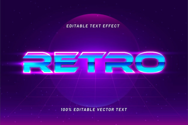 Efeito para texto editável em estilo retro