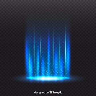 Efeito portal de luz com fundo transparente