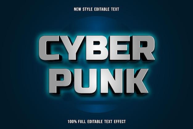 Efeito punk de texto editável em cinza e verde escuro