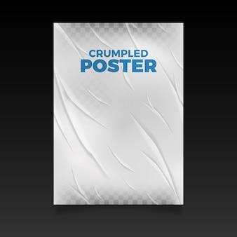 Efeito realista de cartaz amassado