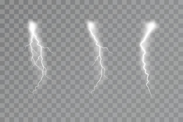 Efeito relâmpago efeito de luz trovoada eletricidade