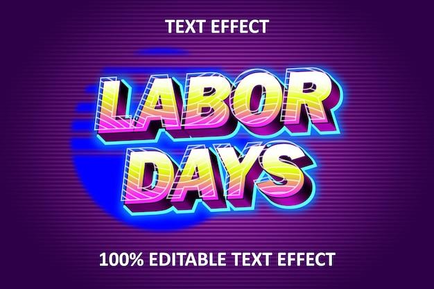 Efeito retro de texto editável amarelo rosa roxo