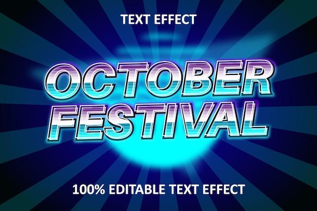Efeito retro de texto editável azul e roxo