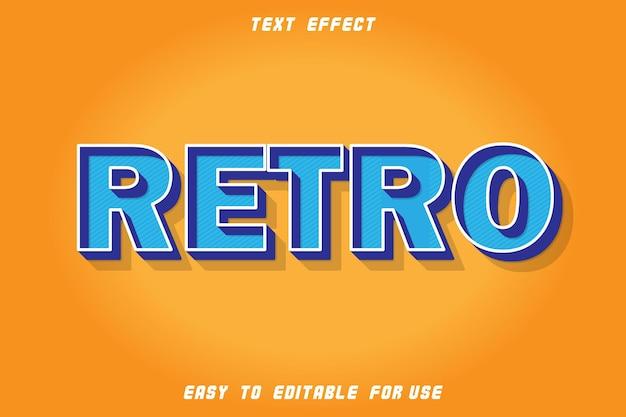Efeito retro de texto editável em relevo em estilo retro