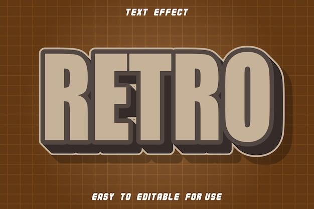 Efeito retro de texto editável em relevo em estilo vintage