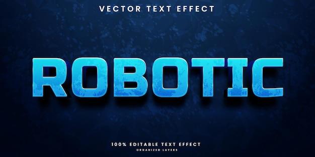 Efeito robótico de texto editável