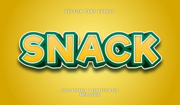 Efeito snack text, estilo de texto editável