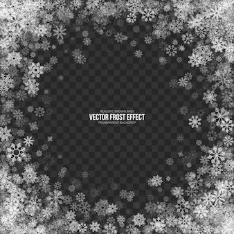 Efeito snow frost 3d transparente