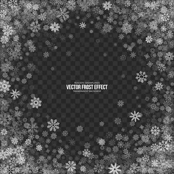 Efeito snow frost transparente