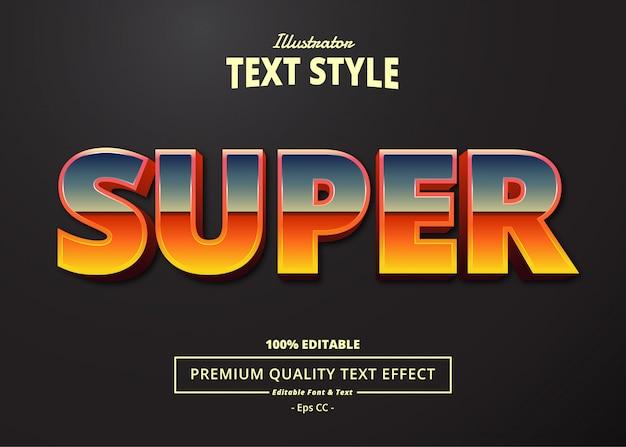 Efeito super text