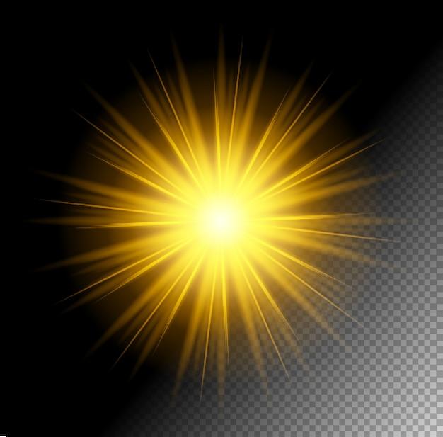 Efeito transparente vector shine