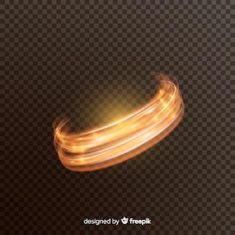 Efeito turbilhão de luz brilhante