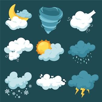 Efeitos climáticos desenhados à mão