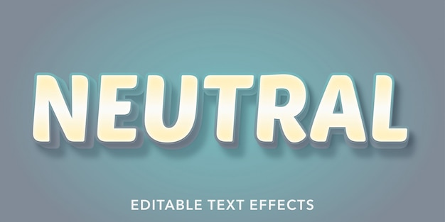 Efeitos de estilo de texto editável neutro