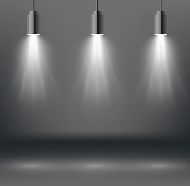 Efeitos de iluminação de cena com holofote.