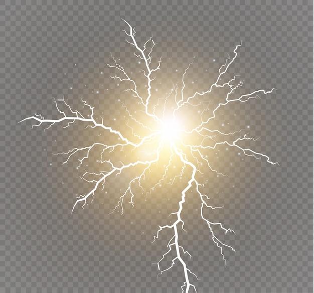 Efeitos de iluminação mágicos e brilhantes.