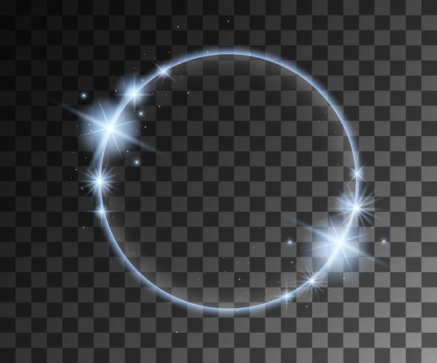 Efeitos de luz azul com decoração de partículas