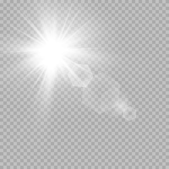 Efeitos de luz branca brilhante
