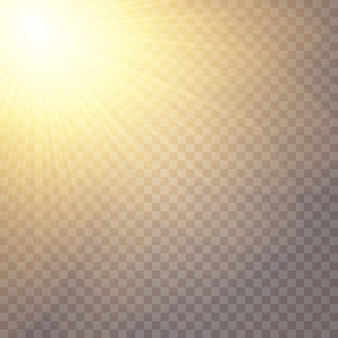 Efeitos de luz brilhantes. estrela brilhou lantejoulas. brilho do sol.