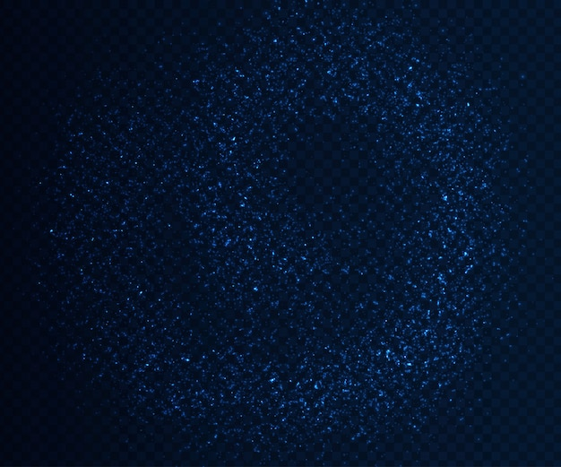 Efeitos de luz brilhantes, fluxo de partículas azuis