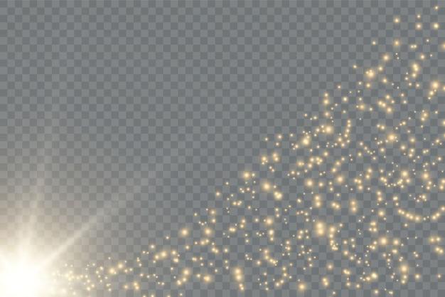 Efeitos de luz. brilhos. efeito de luz. espumante