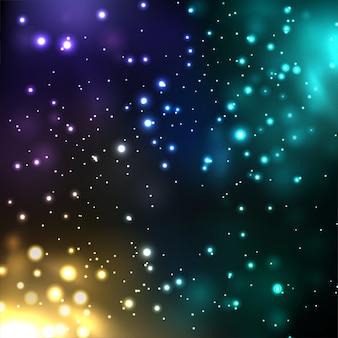 Efeitos de luz coloridos brilhantes espumantes