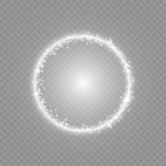 Efeitos de luz de reflexo de lente óptica.
