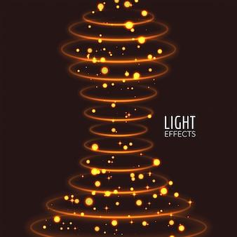 Efeitos de luz toca fundo