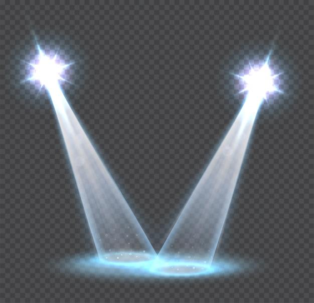 Efeitos de luz transparente cena, holofotes