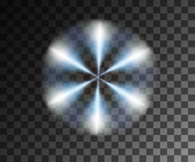Efeitos de luz vetorial de luz brilhante
