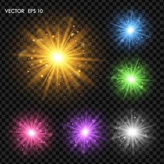 Efeitos de luz.