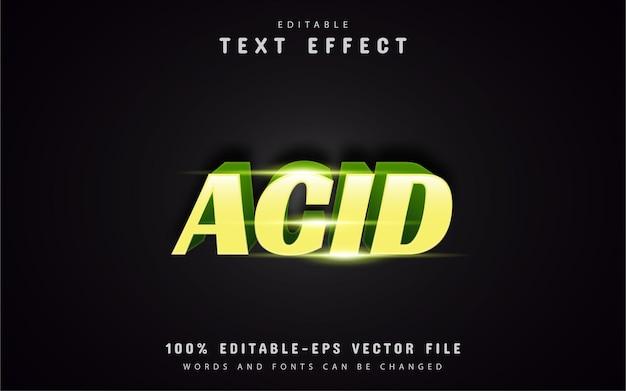 Efeitos de texto acid
