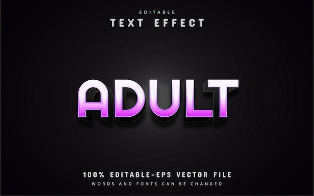 Efeitos de texto adulto