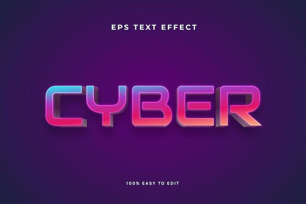 Efeitos de texto cyber vibrant color