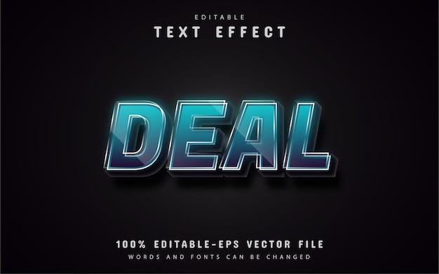 Efeitos de texto da oferta