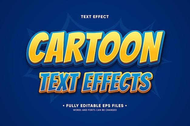 Efeitos de texto de desenho animado