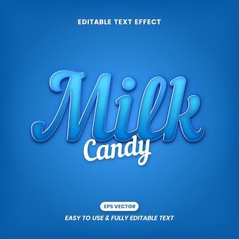 Efeitos de texto de doce de leite