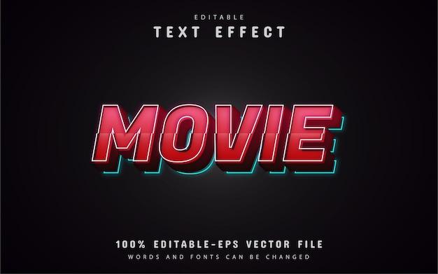 Efeitos de texto de filme 3d