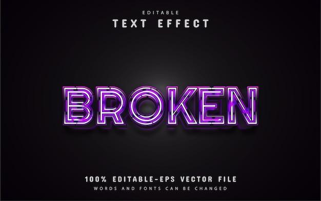 Efeitos de texto de linha quebrada